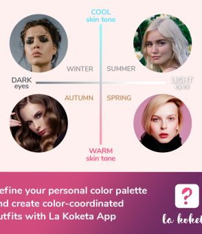 women faces in axes showing color seasons