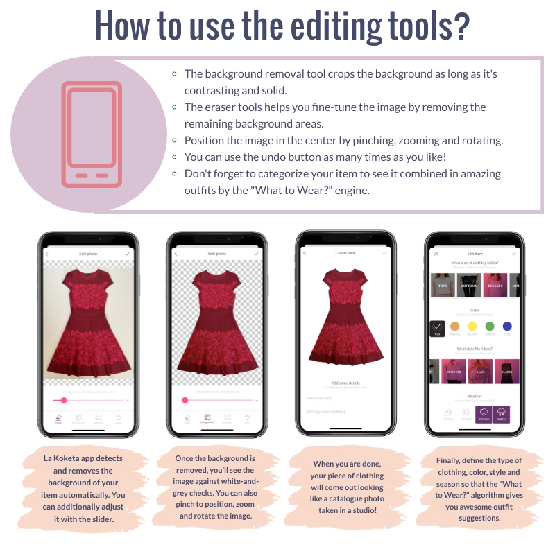 How to use the app editing tools - tips and tricks on app features